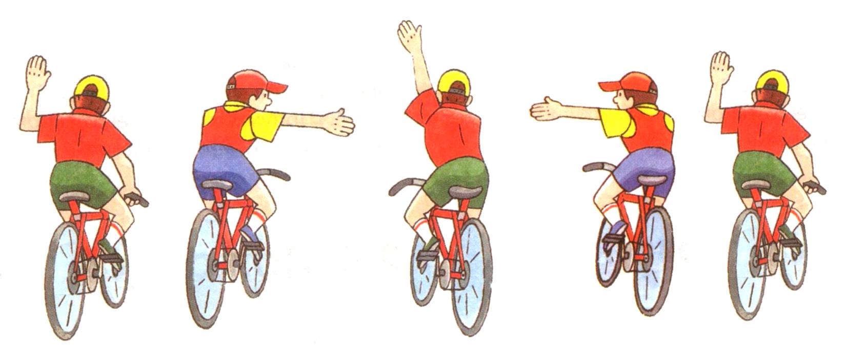 Сигнали, які подає велосипедист