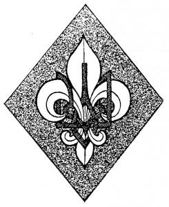 Малюнок першої пластової відзнаки із віньєтки перших чисел «Молодого Життя» 1921 року