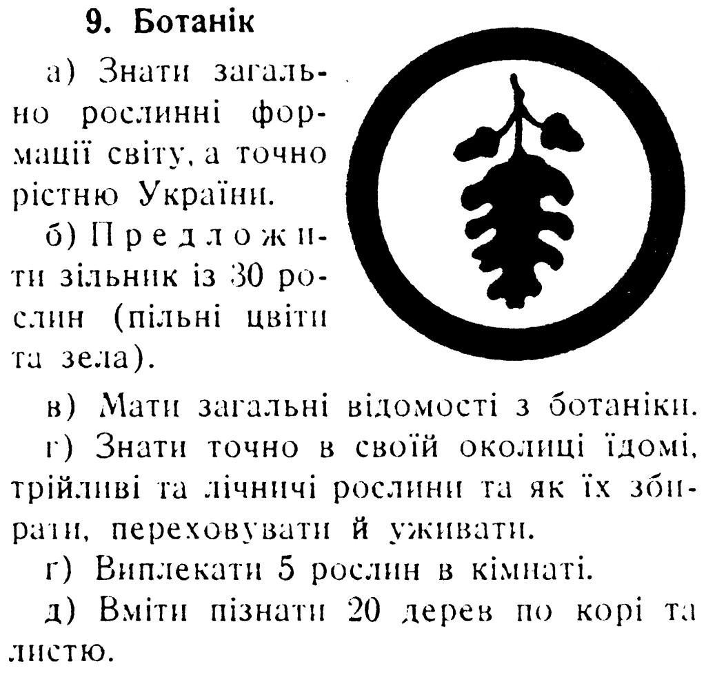 Стара вмілість «Ботанік» (1940 рр.)
