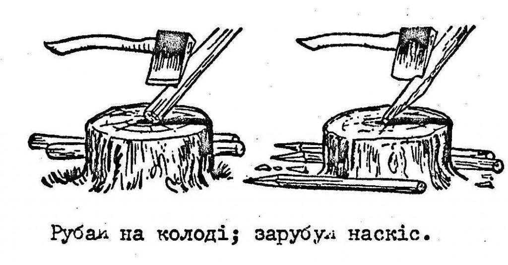 Правила використання сокири