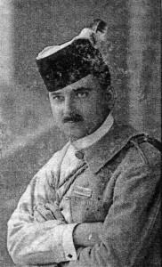 Ярославенко у формі Соколу. Світлина 1914 року.