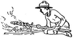 Хліб можна спекти взагалі без печі. Обкрути тісто довкола палиці і печи над гарячим жаром