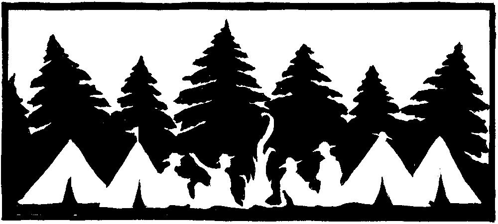 Табір ватра в темноті
