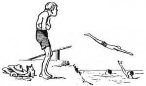 ТОМ-ЖОВТОДЗЮБ Ч. І. ТОМ НАД СТАВКОМ. Всі радіють і щасливі - Том на березі мліє. Всі скачуть, поринають - Том плавати не вміє
