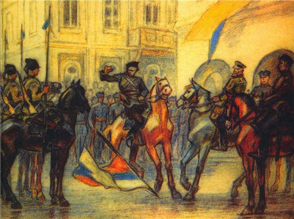 Картина Перфецького «Київ, 31 сепня 1919 р.»