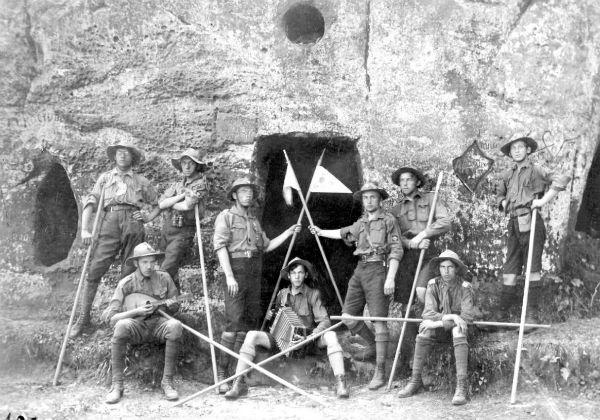 Члени куреня «Лісові чорти», Карпати, 1920-ті рр.